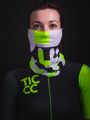 TIC CC Neck warmer Be the change Neon lime