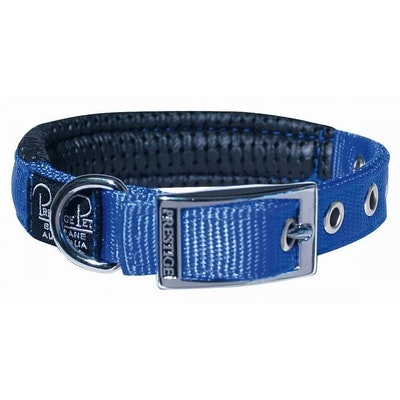 Prestige Pet Products Prestige Pet Soft Padded Adjustable Dog Collar Blue 3/4 Inch - 4 Sizes