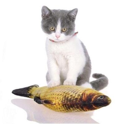 Xpetisland Pet Cat Play Toys Fish Shape Catnip Pillow Scratch Chewable