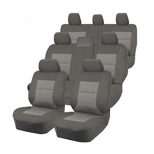 Premium Car Seat Covers For Toyota Landcruiser 200 Series 2007-2020 4X4 Suv/Wagon   Grey