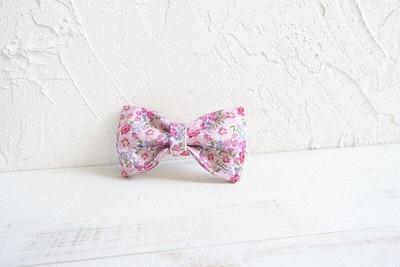Barker & Bone Bow Tie | Pink Flower