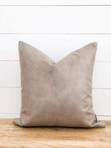 Cushion Cover - Pumice Vegan Leather