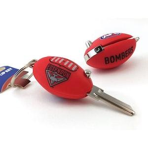 Creative Keys AFL Footy Flip Key Blank with Keyring LW4 – Essendon Bombers