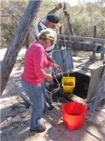 Bucket brigade haul well water Canning Stock Route
