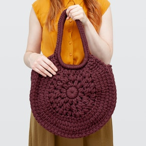 Sunburst • Tote Bag • Crochet Chunky Knit • Colour: ESPRESSO