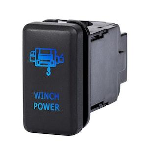 LIGHTFOX Winch Power Push Rocker Switch Suitable for TOYOTA Hilux Landcruiser OEM