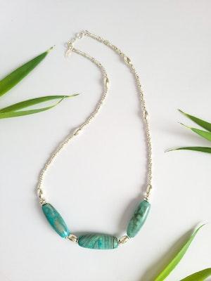 Uniqu-Lea Yours Statement Tibetan Dzi Agate Necklace