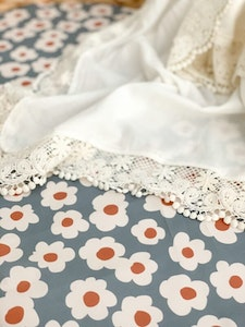Grubbee Vintage Floral Fitted Cot Sheet