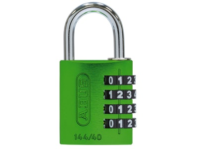 ABUS 144/40 4-wheel combination padlock with aluminium body in green