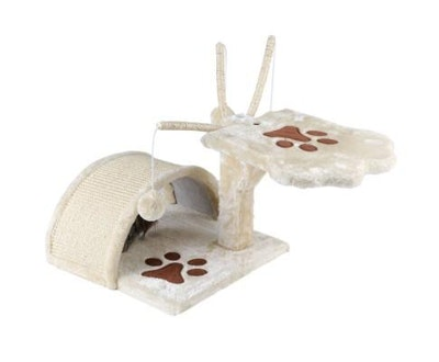 House of Pets Delight Cat Scratching Poles Tree House in Beige