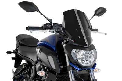 Puig New Generation Touring Screen To Suit Yamaha MT-07 2018 - 2020 (Black)