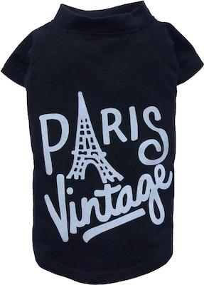 DoggyDolly SMALL DOG - Paris Vintage Doggy T Shirt
