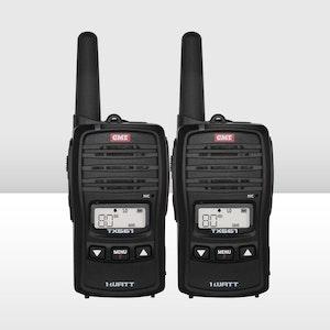 GME 1 Watt UHF CB Handheld Radio- Twin Pack