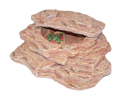 URS Sandstone Steps w/ Revolving Dish Wide Reptile Accessory