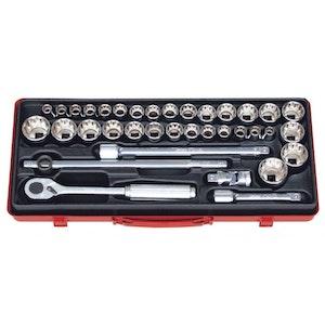 """KO4279AM Socket Set 36 Piece 1/2""""Dr 10-32mm 3/8""""-1.1/4"""" KO4279AM KoKen"""