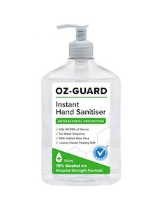 Oz-Guard 750ml Hand Sanitiser Gel Anti-Bacterial Oz Guard 70% Alcohol Kills 99.99% Bacteria