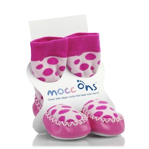 Sock Ons MOCC ONS Pink Spot 12-18