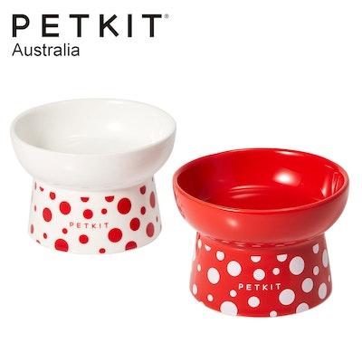 PETKIT Polk Dot Ceramic Pet Bowl Double