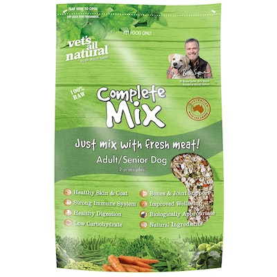 Vets All Natural Complete Mix Adult/Senior Dog Food - 3 Sizes