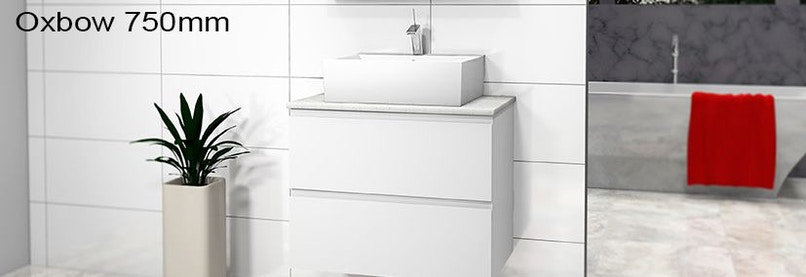 Timberline oxbow 750mm wall hung vanity pre built for Premade bathroom vanities