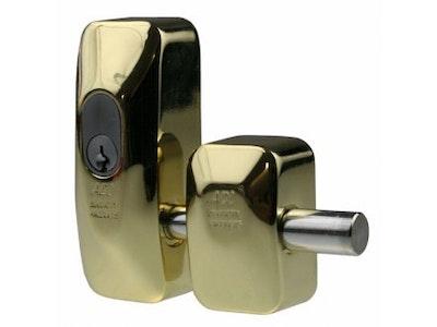 ADI High Security Double Door Locking Shop Door Lock 444 Bolt - Brass Finish