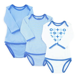 OETEO Australia EASYEO Classic Long Sleeve Romper Bundle – Pack of 3