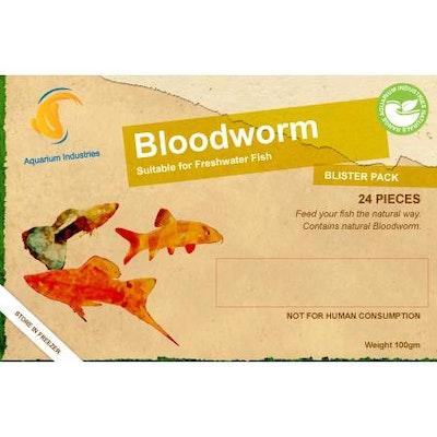 Aquarium Industries AI Nat Bloodworm - Frozen 100gm Blist