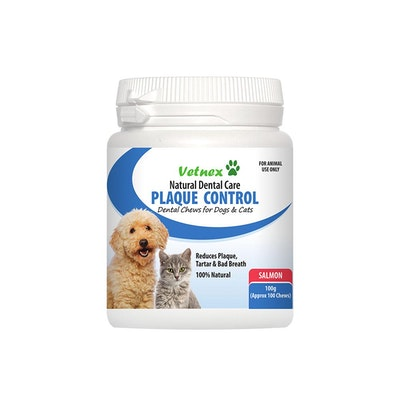VETNEX Natural Dental Care Plaque Control Chews For Dogs & Cats - Salmon 100G