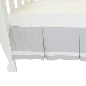 Babyhood Cot Valance Summer Stripe - Grey