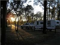 Rise and shine for overnight caravan Ironbark Rest Area Hume Hwy