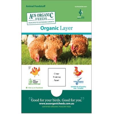 Organic Chicken Layer Pellets 20kg Aus Organic Feeds