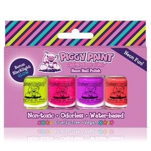 Piggy Paint NEON Mini Nail Polish Set