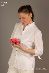 Lucy | Cotton Shirt in White Hailspot