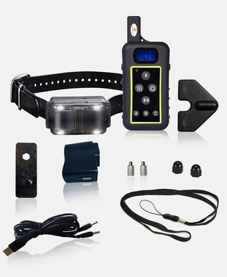 Pet Control HQ Remote Hunting Dog Training Shock Collar with Strobe LED
