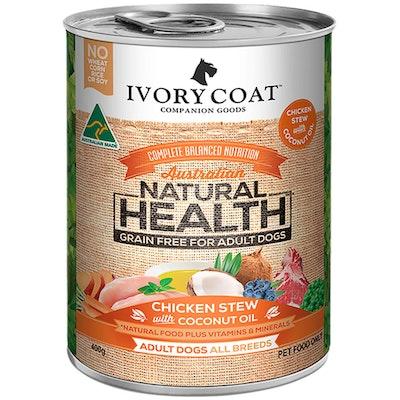 IVORY COAT Grain Free Adult Dog Food Chicken & Coconut Stew 400g x 12