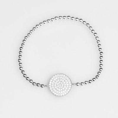 I Dream of Silver Paved Beaded Bracelet with Swarovski Crystals