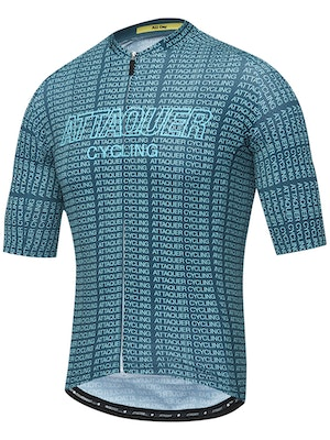Attaquer All Day Typo Jersey Grit Green