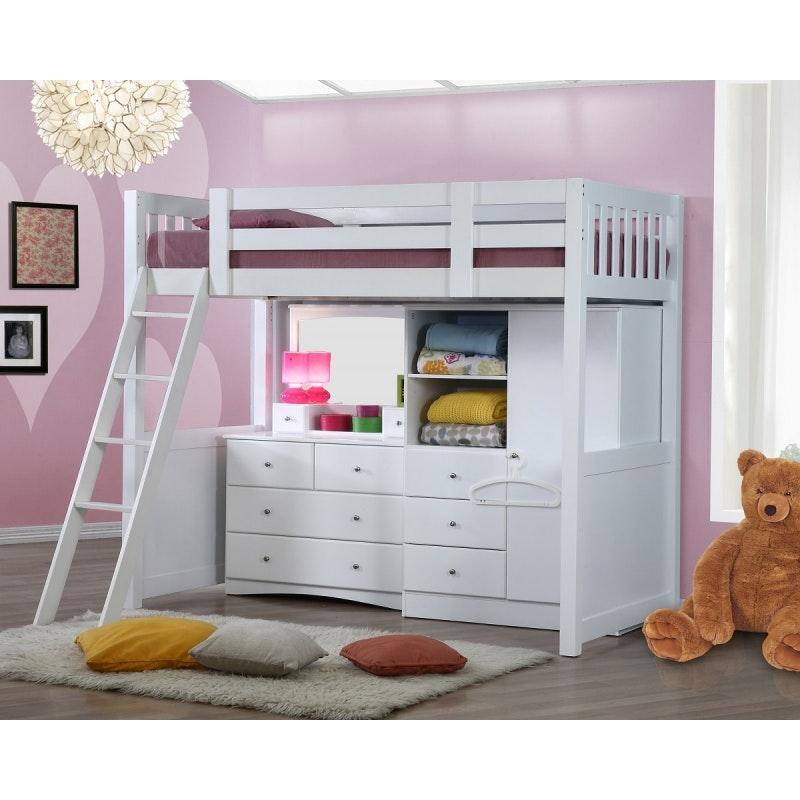 Kids Furniture Fdo My Design Bunk Bed W Wardrobe Bunk