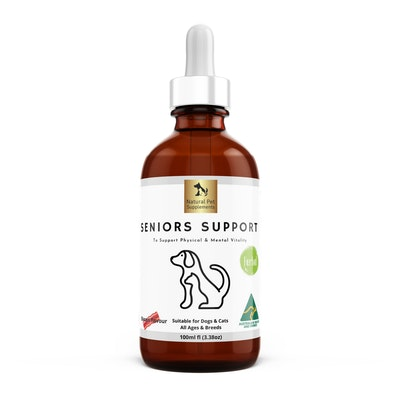 Natural Pet Supplements Seniors Support Herbal Tincture For Dogs and Cats High Strength 100ml