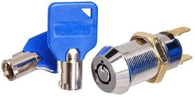 BDS cam lock style tubular key switch on/off 2 position key removal keyed to differ