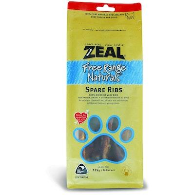 Zeal Free Range Naturals Spare Ribs Dog Treats 125G