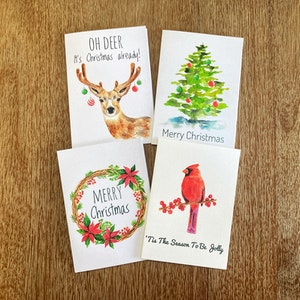 Christmas Greeting Cards Pack of 4