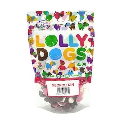 Lolly Dogs Carob, Vanilla & Strawberry Dog Treats 350g