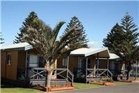 Comfortable cabins courtesy Shellharbour Beachside