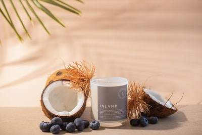 Emberfield ISLAND Luxury Candle | Signature Organic Coconut / Soy Wax Blend, Vegan Friendly, Phthalate Free