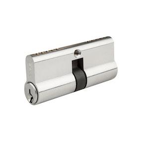 Brava Satin Chrome Euro Cylinder - Double Cylinder