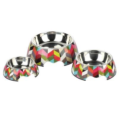 Charlie's Melamine Pet Bowls - Stripe