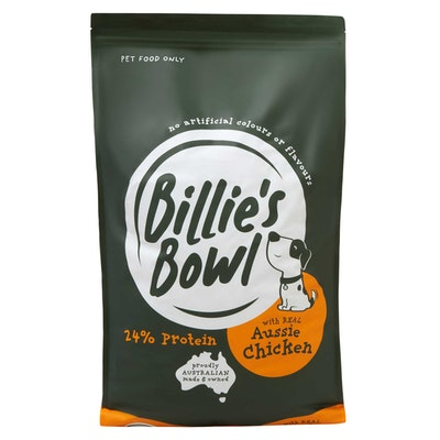 Billie's Bowl Large Breed Adult with REAL Aussie Chicken Dry Dog Food 10kg