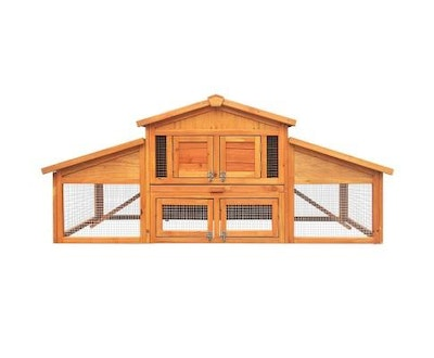 House of Pets Delight 2 Storey Wooden Hutch Coop