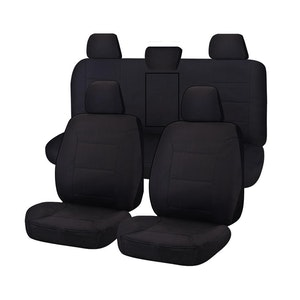 All Terrain Car Seat Covers for Toyota Hilux Dual Cab Utility 2015-2020   Black